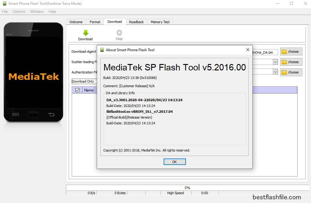 SP Flash Tool v5.2016 Download Latest Version For PC