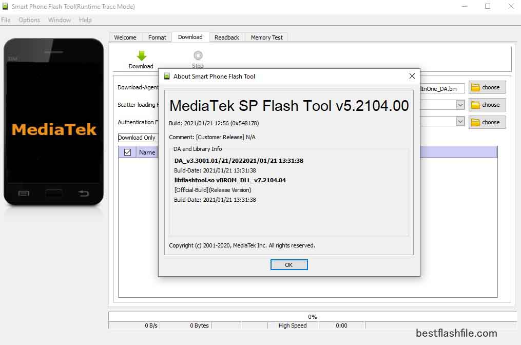 SP Flash Tool v5.2104 Download Latest Version For PC
